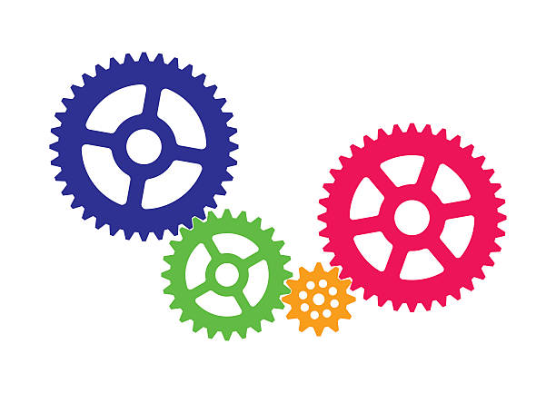 coloured cogs vector id511372318